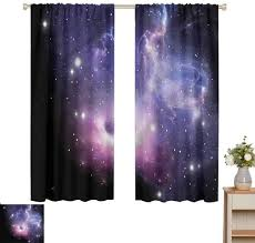 Amazon Com June Gissing Outer Space Curtain For Kids Room Black Hole In Nebula Colorful Heat Insulation Curtain W63 X L63 Nightmare Before Christmas Blanket Home Kitchen