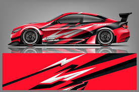 Car Decal Wrap Design Vector Graphic Abstract Stripe Racing Background Kit Designs For Vehicle Race Car Rally Adventure And Li Stock Illustration Illustration Of Identity Brand 143649950