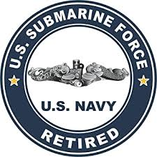 Amazon Com Us Navy Us Submarine Force Retired Silver Dolphins Military Veteran Served Window Bumper Sticker Vinyl Decal 3 8 Automotive