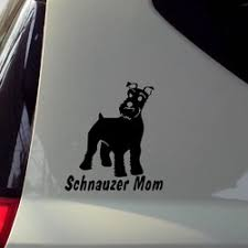 Cute Schnauzer Moms Car Motorcycle Decal Coolthingshere Com