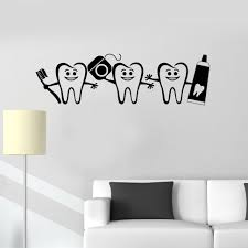 Big Discount E2d09 Wjwy Healthy Teeth Bathroom Decor Dental Care Wall Sticker Dentist Sign Door Window Decals Nursery Kids Room Wall Decal Dm Toonoo Co