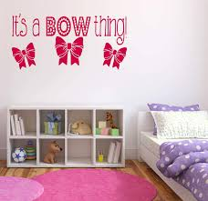Amazon Com It S A Bow Thing Hairbow Jojo Inspired Bow Wall Art Vinyl Decal Sticker Made In Usa Home Kitchen