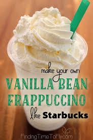 vanilla bean frappuccino like
