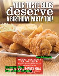 famous recipe en birthday freebie