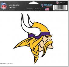 Amazon Com Nfl Minnesota Vikings Ultra Color Decal 5 X6 Team Color Sports Fan Automotive Decals Sports Outdoors
