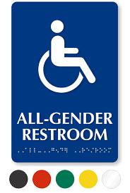 gender neutral restroom signs