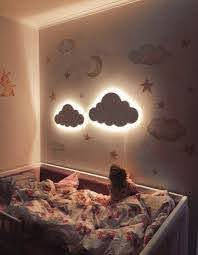 Cloud Night Light Wood Kids Lamp Baby Room Led Lamp Nursery Etsy In 2020 Baby Wall Decor Cloud Night Light Baby Room Decor