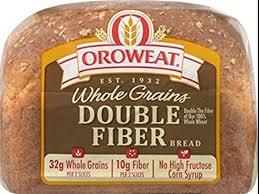 double fiber bread nutrition facts