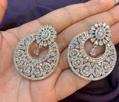 cz chandelier earrings indian bridal
