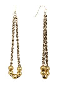 yellow gold plated beaded chain
