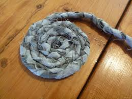 braided rug from old fabric