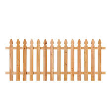Unbranded 3 1 2 Ft H X 8 Ft W Cedar Spaced French Gothic Fence Panel 63665 The Home Depot Wood Picket Fence Picket Fence Panels Fence Panels