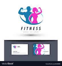 fitness logo design template gym or