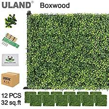 23 62x15 75 Inch Fern And Leaves Non Brand Realistic Green Plant Panels Artificial Hedge Fence Privacy Screen Lawn For Indoor Outdoor Wall Floor Decoration Decorative Fences Decking Fencing