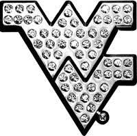 West Virginia Mountaineers Bling Chrome Car Emblem Sports Fanz
