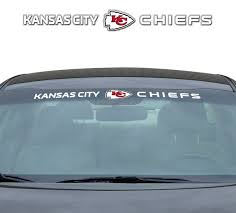 Kansas City Chiefs Decal 35x4 Windshield Wish
