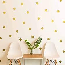 Polka Dot Wall Decals Gold Circle Stickers Art Decor Spot For Baby Room Nursery Kindergarten Bedroom Decoration 1 57 Inch X 126 Decals Walmart Com Walmart Com