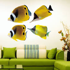 Shop Full Color Colorful Fish Ocean Nautical Full Color Wall Decal Sticker Sticker Decal Size 22x22 Frst Overstock 14992180