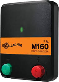 Amazon Com Gallagher M160 Electric Fence Charger Powers Up To 30 Miles 100 Acres Of Clean Fence 1 6 Joules 110 Volt Energizer Unbeatable Reliability Tough Outer Casing Mounting Garden Outdoor