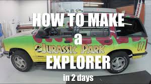 How To Make A Jurassic Park Explorer In 2 Days Youtube