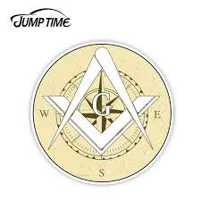Jump Time 13cmx13cm Masonic Free Mason Compass Vinyl Decal Sticker Car Truck Temple Freemason Window Laptop Wall Car Accessories Car Stickers Aliexpress