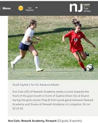 Newark Academy - NA girls' soccer players Ava Cole '22 and... | Facebook