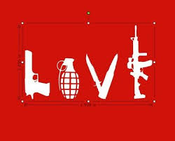 Love With Guns Car Decal Grenade Hand Gun Vinyl Truck 2a Guns Auto Parts And Vehicles Car Truck Graphics Decals Magenta Cl