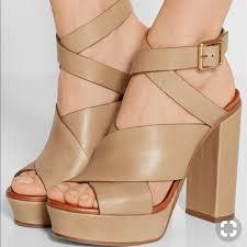 chloe shoes criss cross leather nib