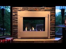 modern indoor outdoor gas fireplace