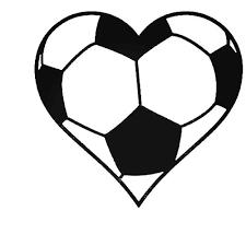 Soccer Ball Heart Decal Sticker