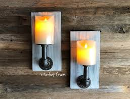industrial candle sconce candle wall