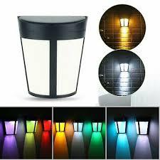 Solar Powered Led Outdoor Garden Fence Light Waterproof Wall Lamp Modern Lights 7 08 Picclick Uk