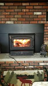 wood burning fireplace insert trio