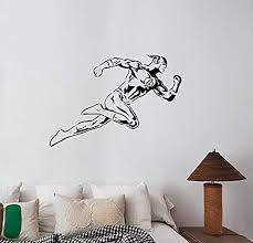 Amazon Com A Good Decals Usa The Flash Wall Decal Vinyl Sticker Dc Comics Superhero Art Decorations For Home Bedroom Playroom Boys Room Decor Ideas Flh4 Home Kitchen