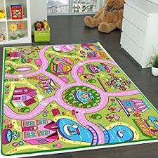 Amazon Com Mybecca Kids Rug Colourful Fun Land 5 X 7 Roads Childrens Floor Play Children Area Rug Mat Playroom Nursery 59 X 82 Kitchen Dining