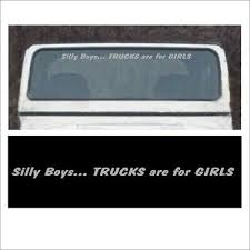 Windshield Silly Boys Trucks Are For Girls Decal Fits Jeep Wrangler Girl 4x4 V Ebay