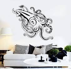 Vinyl Wall Decal Giant Squid Ocean Sea Monster Fishing Stickers Unique Wallstickers4you