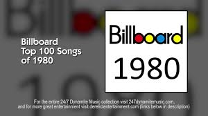 Billboard Top 100 Songs of 1980 - 5+ HOURS OF NON-STOP MUSIC ...