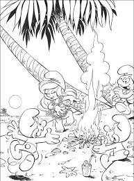 Kleurplaat Smurfen Voor Beginners