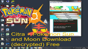 How to download Citra + Pokemon Sun and Moon (Decrypted roms) - YouTube