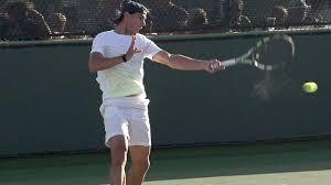 Rafael Nadal Forehand in Super Slow ...
