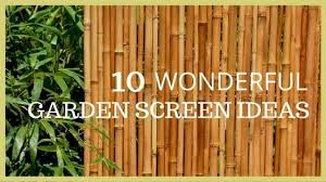 10 wonderful garden screening ideas in 2019
