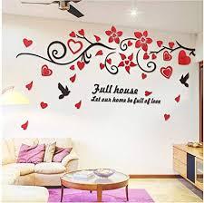 Amazon Com Ayzr 3d Wall Sticker Bird Love Flower Vine Wall Decals Art Tv Background Acrylic Mirror Wall Stickers Decorations Living Room Wallpaper Sticker 250x130cm Home Kitchen
