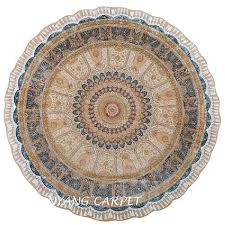 8 2 x8 2 round antique tabriz persian