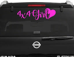 4x4 Girl Car Decal Yeti Tumbler Bottle Sticker Bumper Etsy