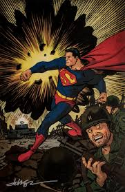Dave Johnson Signed Art print : Superman 75th