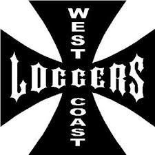 West Coast Loggers Iron Cross Vinyl Decal Sticker