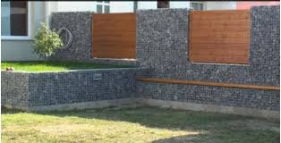Supported Gabion Foundations Stone Walls Garden Fences Stone Walls Garden Fence Design Gabion Fence