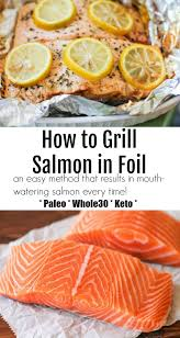 how to grill salmon in foil the