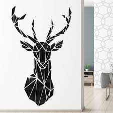Geometric Deer Head Acrylic Mirror Stickers Modern Minimalism Home Decor Antler Deer Head Wall Art Stickers Decal Christmas Gift Buy At The Price Of 14 24 In Aliexpress Com Imall Com